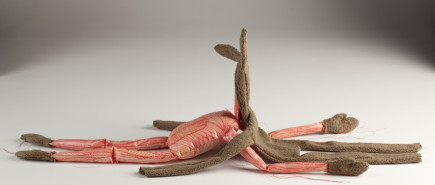 figurative textile sculpture hare skinned Jody MacDonald