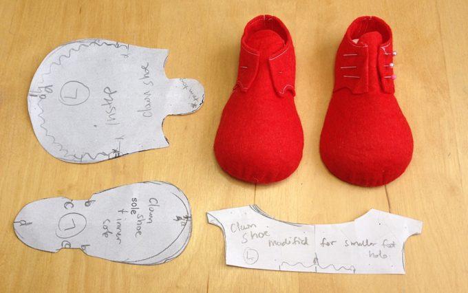 Ботинки для клоуна своими руками мастер класс 13