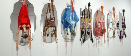 figurative textile sculpture pheasants Jody MacDonald