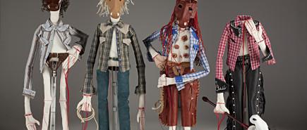 figurative textile sculpture horsemen Jody MacDonald